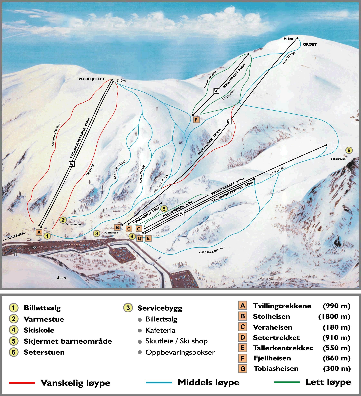 eikedalen kart Løypekart | Eikedalen Skisenter AS eikedalen kart